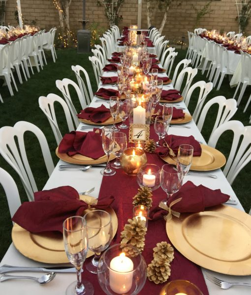 22 romantic burgundy and rose gold fall wedding ideas for Burgundy wedding reception decorations